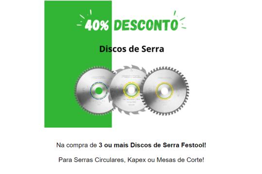 Campanha Setembro Festool - Discos de Serra - 40% Desconto
