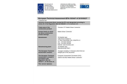 ETA-18/0447 de 2018/06/27 - Conectores CTF